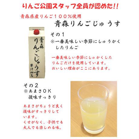 【青森県産りんご果汁100%ジュース】 青森りんごじゅうす 1リットル 6本入り〈弘果物流〉