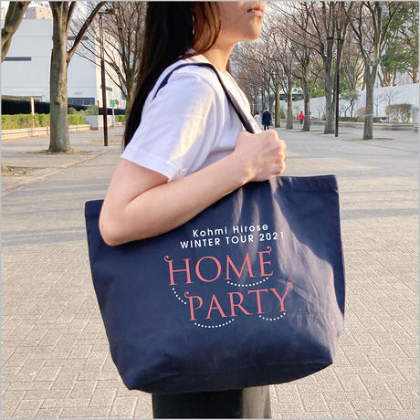 """""""HOME PARTY""""トートバッグ / ネイビー"""