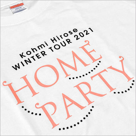 """""""HOME PARTY""""ロゴTシャツ / ホワイト"""