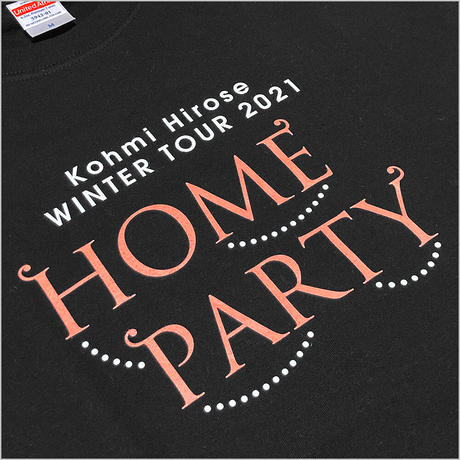 """HOME PARTY""ロゴTシャツ / ブラック"