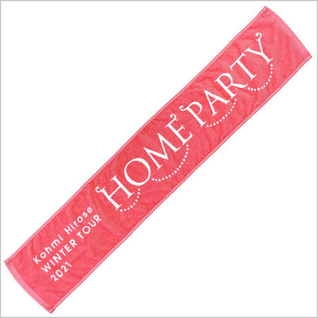 """""""HOME PARTY""""マフラータオル / ピンク"""