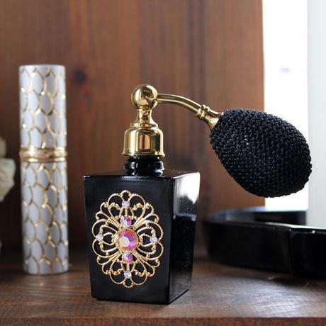 ブラックボトル バルブアトマイザー スカシ(SUKASI)ゴールド 20ml 日本製【香水 フレグランス アロマ ギフト スワロフスキー】
