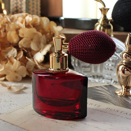 バルブアトマイザー 木の葉(KONOHA) 15ml 28241 ダークレッド【香水 フレグランス アロマ 詰替え容器 プレゼント】