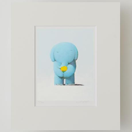 ジクレー版画「黄色の花束」(フレーム無し・ブックマット仕様)