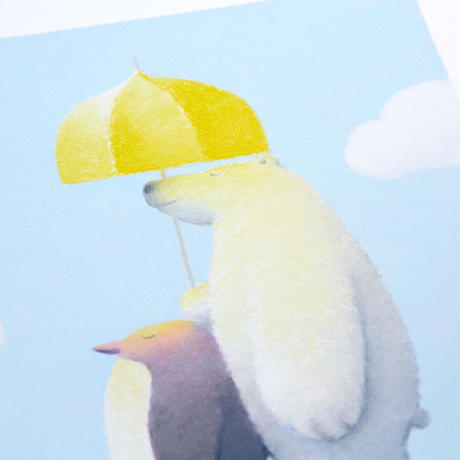 ジクレー版画「お出かけ日和」(フレーム無し・ブックマット仕様)