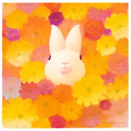 フレーム入りジクレー版画「花色の時間」