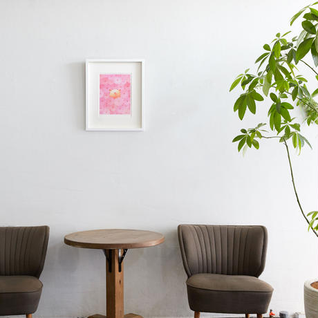 フレーム入りジクレー版画「桜色の天使」