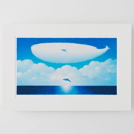 ジクレー版画「大きな空の季節」(フレーム無し・ブックマット仕様)