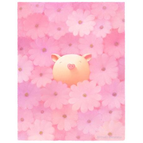 ジクレー版画「桜色の天使」(フレーム無し・ブックマット仕様)