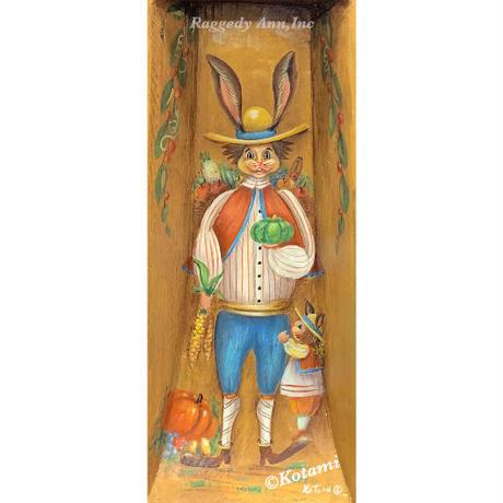 素朴なエッセンスのウサギを描いたの民芸用具