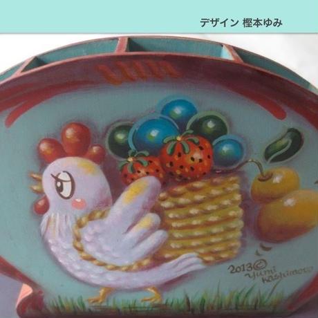 プリントアウト式 ピーター・オンピ−ルのスタイルで描く コッコちゃんの収穫