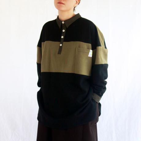 スウェットパジャマシャツ / green×black
