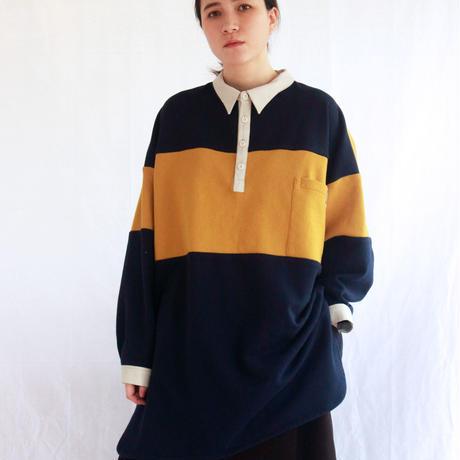 スウェットパジャマシャツ / mustard×navy