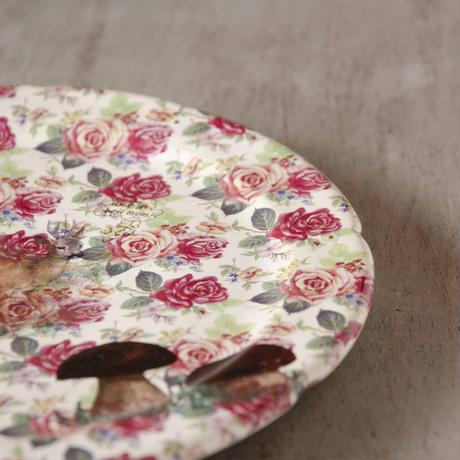 鹿と薔薇のケーキ皿