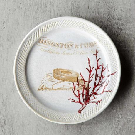 バームクーヘンと珊瑚のお皿