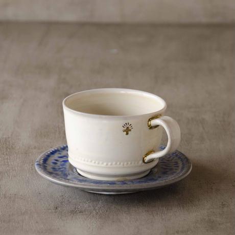 クロス付きソーダ-釉のカップ&ソーサー2