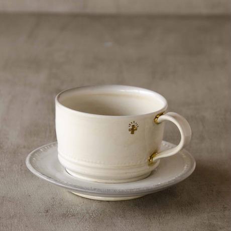 クロス付きソーダ-釉のカップ&ソーサー3