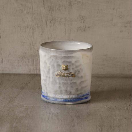 猫付きソーダ-釉のフリーカップ