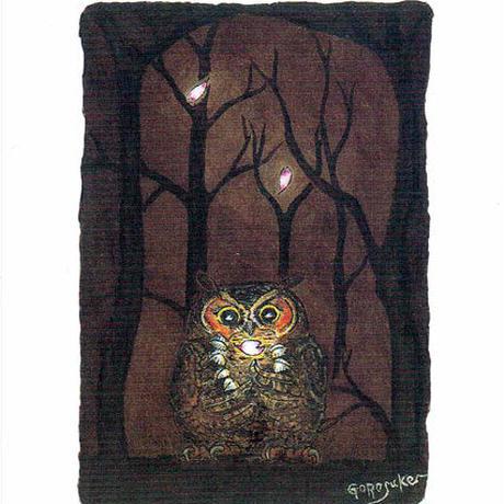 ポストカード ペン画「花降る夜に」3枚セット