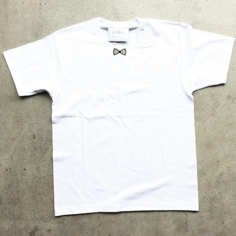 RIBON YELLOW STAR TシャツWHITE   LADYS/MENS