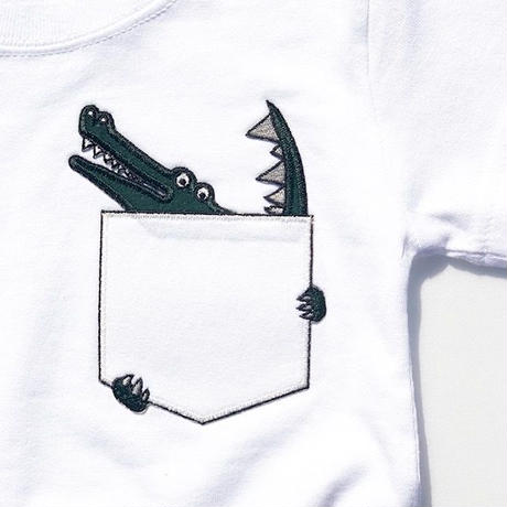 CROCODILEKIDSTシャツ White