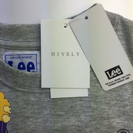 LEE×stompstamp×HIVELYコラボTシャツ グレー