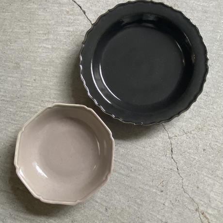 関口憲孝 輪花8寸皿 濃紺