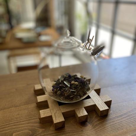 京都炭山朝倉木工 千鳥格子の鍋敷き ナラ