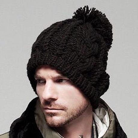 【シンプルだけど存在感あります!】ボンボン ワッチ ニットキャップ 帽子 ニット帽 メンズ レディース ユニセックス 黒 茶 紺 赤 ベージュ