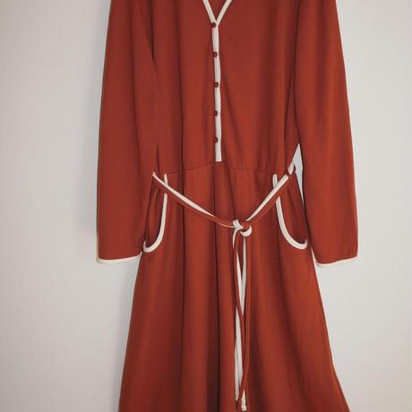 bi-color piping dress