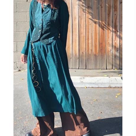 80's vest layered dress