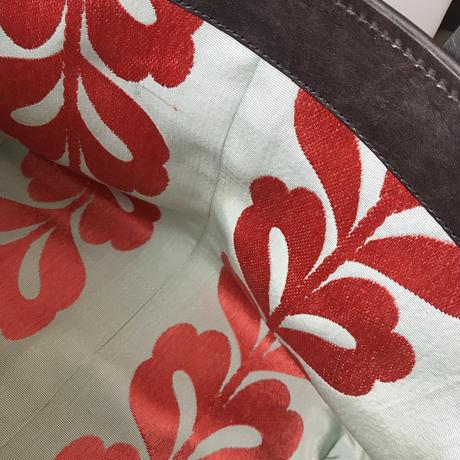 NEW     酒袋鞄 SHIB  S-57/翠に花帯  /  OBI