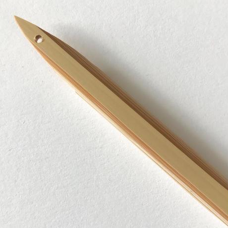 竹ぺん_しの竹長 / 白竹先細    Bamboo Pen