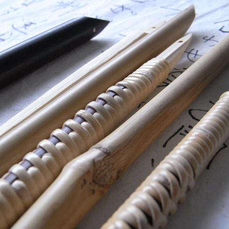 竹ぺん_鳳尾竹長巻    Bamboo Pen