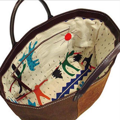 SHIB 酒袋鞄   L-32  インドパッチワーク / INDIAN PATCHWORK