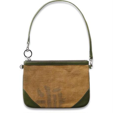 酒袋 コーナーポーチバッグ  O-205    リスシオ・オリーブグリーン  LISCIO Olive