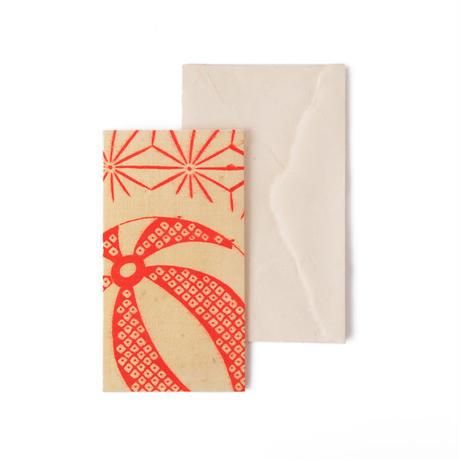土佐耳付き和紙・はぎれグリーティングカード  HAGIRE Greeting Card