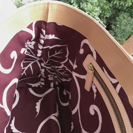 酒袋鞄SHIB  S_62 /えんじ唐草    Dark-red Arabesque Pattern