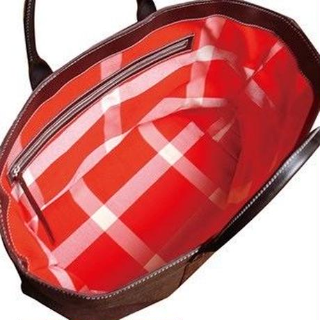 SHIB   酒袋鞄 L-40  赤白格子帯  / KIMONO OBI