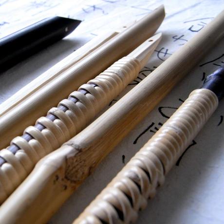 竹ぺん_藤巻先細 Bamboo Pen
