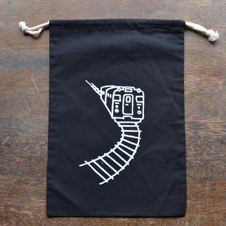 黒色巾着(L)