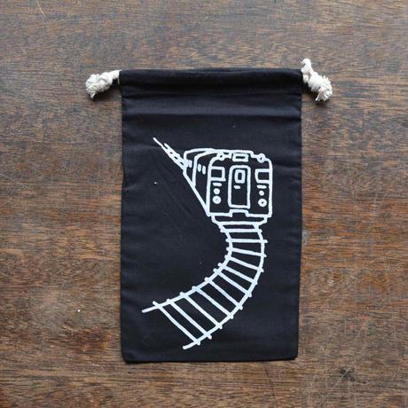 黒色巾着(M)