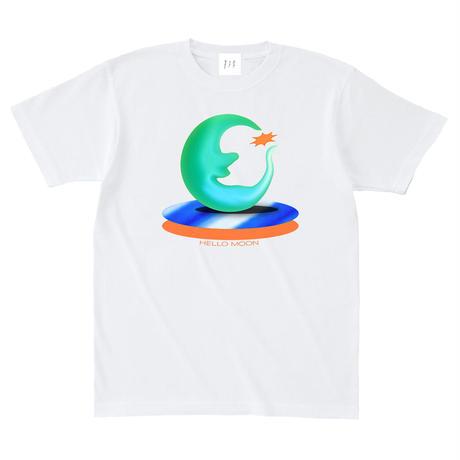 ハロー、ムーンTシャツ[ホワイト]