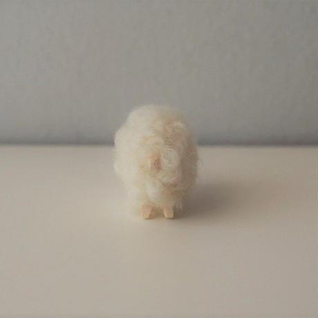hitsuji object  /  mame size  Mokume white