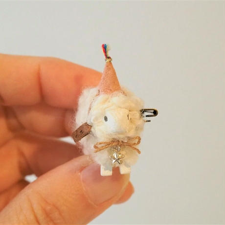 hitsuji brooch  S size  /  帽子+首飾り星<完成品>