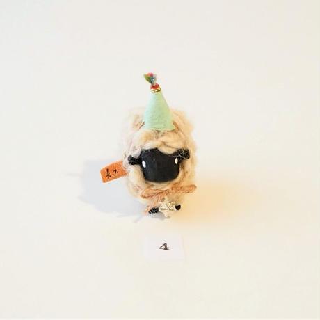 hitsuji object  /  mame size+帽子+首飾り星<完成品>