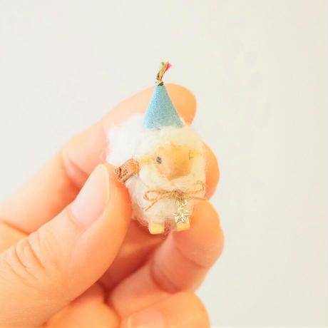 hitsuji object  S size  /  帽子・紺+首飾り星<完成品>