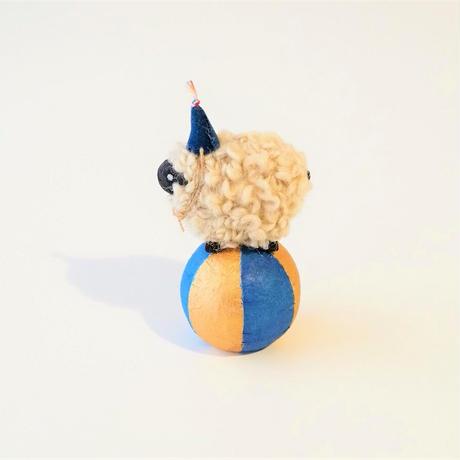 玉乗り羊  S size    帽子紺 /   顔Black <完成品>