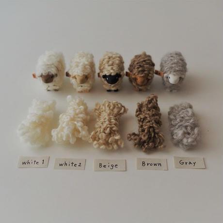 hitsuji object  /  mame size   Walnut