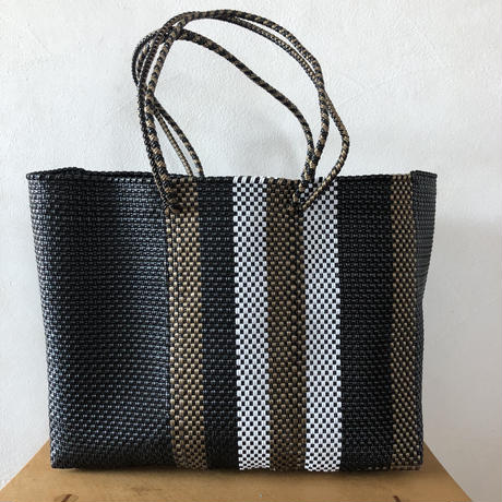 L size Mexican Plastic Tote bag メキシカントートバッグ ロングハンド